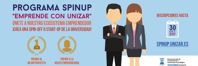 La Cátedra Emprender financia el Premio al Mejor Proyecto SpinUP de la Universidad de Zaragoza