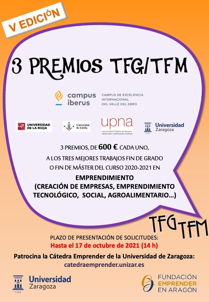 Cartel V Convocatoria Premios TFG-TFM